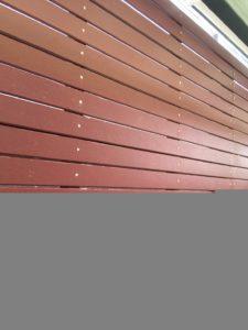 งานติดตั้งรั้วโครงเหล็กไม้ระแนง SCG แบบลบมุม 20