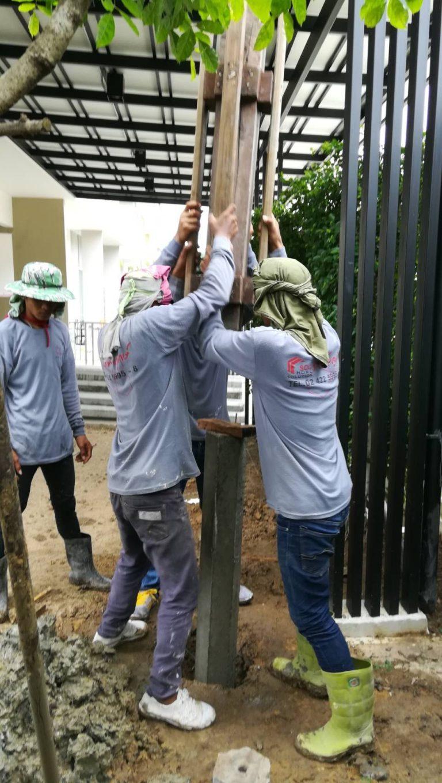 ปรับพื้นโครงสร้างเทคอนกรีต ติดตั้งไม้พื้น SCG 5
