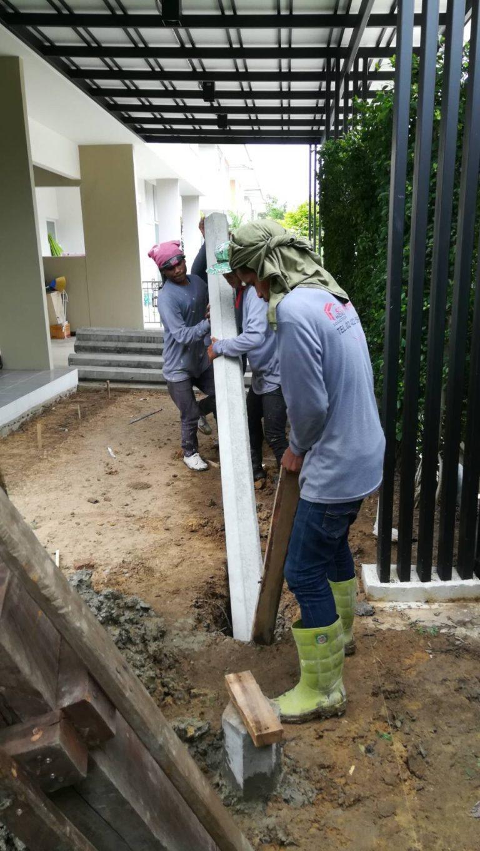 ปรับพื้นโครงสร้างเทคอนกรีต ติดตั้งไม้พื้น SCG 6