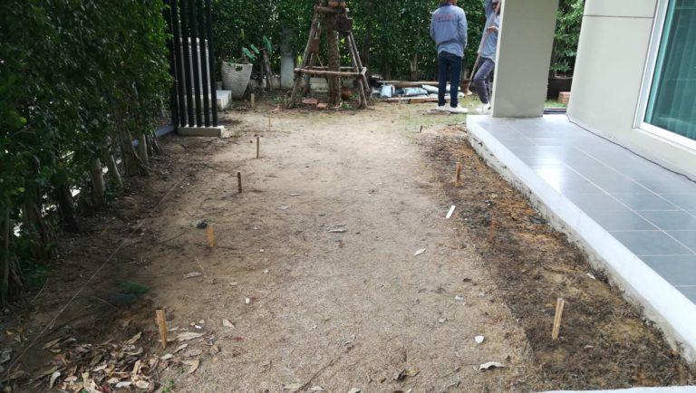 ปรับพื้นโครงสร้างเทคอนกรีต ติดตั้งไม้พื้น SCG 4