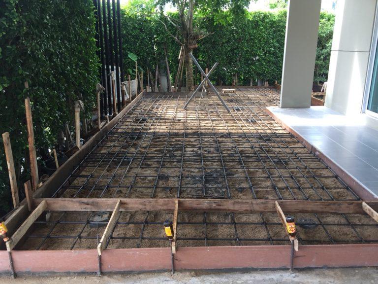 ปรับพื้นโครงสร้างเทคอนกรีต ติดตั้งไม้พื้น SCG 8