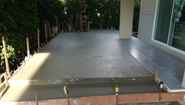 ปรับพื้นโครงสร้างเทคอนกรีต ติดตั้งไม้พื้น SCG 13