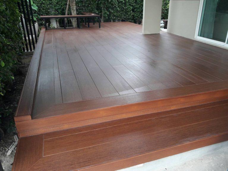 ปรับพื้นโครงสร้างเทคอนกรีต ติดตั้งไม้พื้น SCG บ้านคุณสุทัศน์