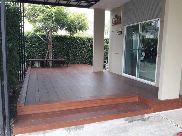 ปรับพื้นโครงสร้างเทคอนกรีต ติดตั้งไม้พื้น SCG 16