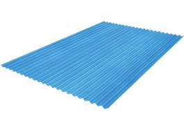 แผ่นโปร่งแสง เอสซีจี ลอนกันสาด 105X600X0.12 ซม. สีน้ำเงิน