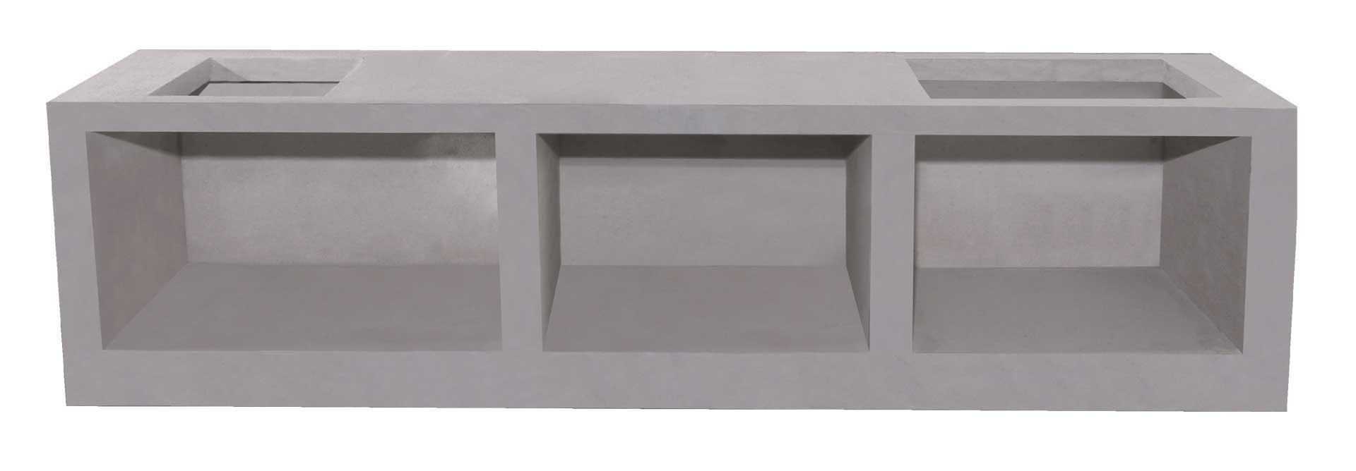 เคาน์เตอร์ Q-CON ส่วนโต๊ะ ขนาด 56x90.5x7.5 ซม. 2