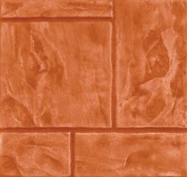 กระเบื้องคอนกรีตปูพื้น เอสซีจี รุ่น แสตมป์เพฟ ลายเอเทนส์ สีส้ม