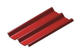หลังคาไฟเบอร์ซีเมนต์ เอสซีจี รุ่น ลอนคู่ไฮบริด 50x120x0.55 สีแดง