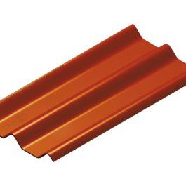 หลังคาไฟเบอร์ซีเมนต์ เอสซีจี รุ่น ลอนคู่ไฮบริด 50x120x0.55 สีหมากสุก