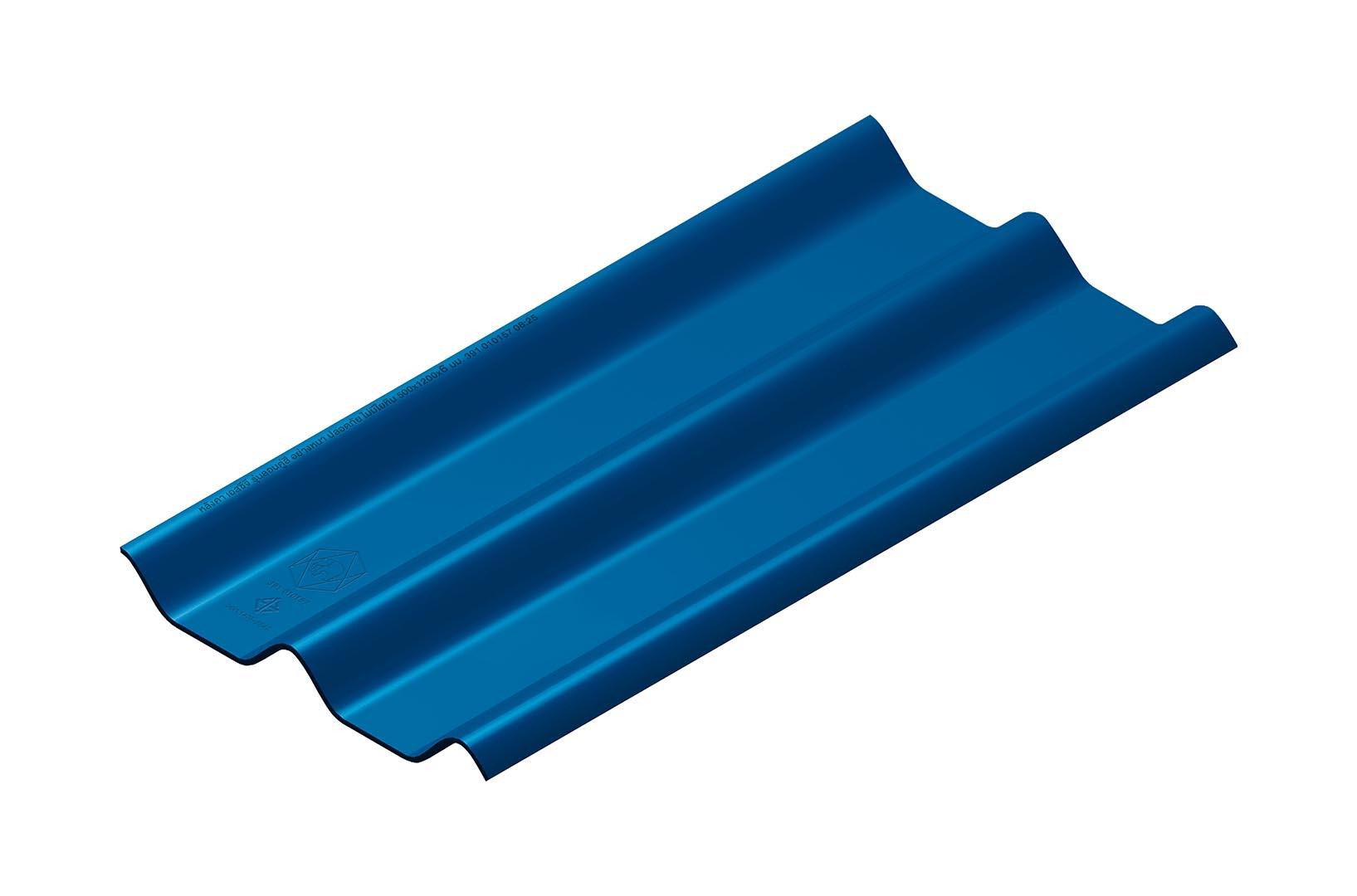 หลังคาไฟเบอร์ซีเมนต์ เอสซีจี รุ่น ลอนคู่ไฮบริด 50x120x0.55 สีน้ำทะเล 1