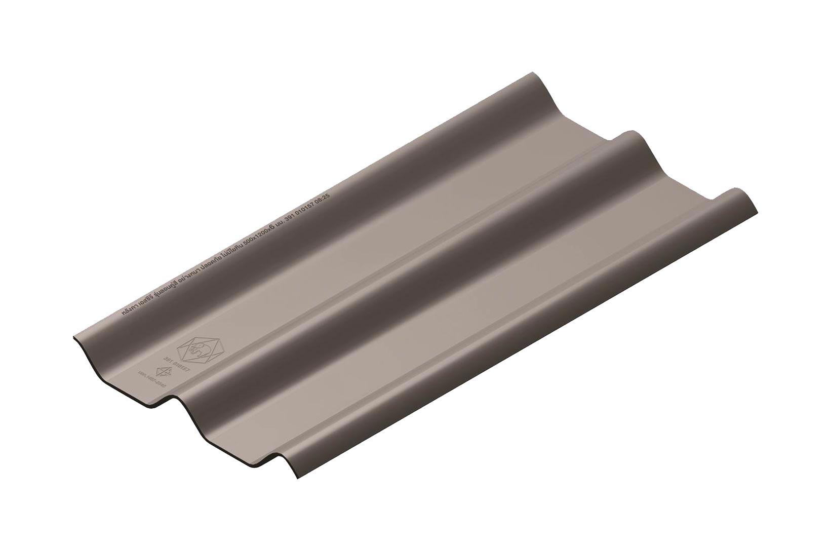 หลังคาไฟเบอร์ซีเมนต์ เอสซีจี รุ่น ลอนคู่ไฮบริด 50x120x0.55 สีเทาศิลา 1