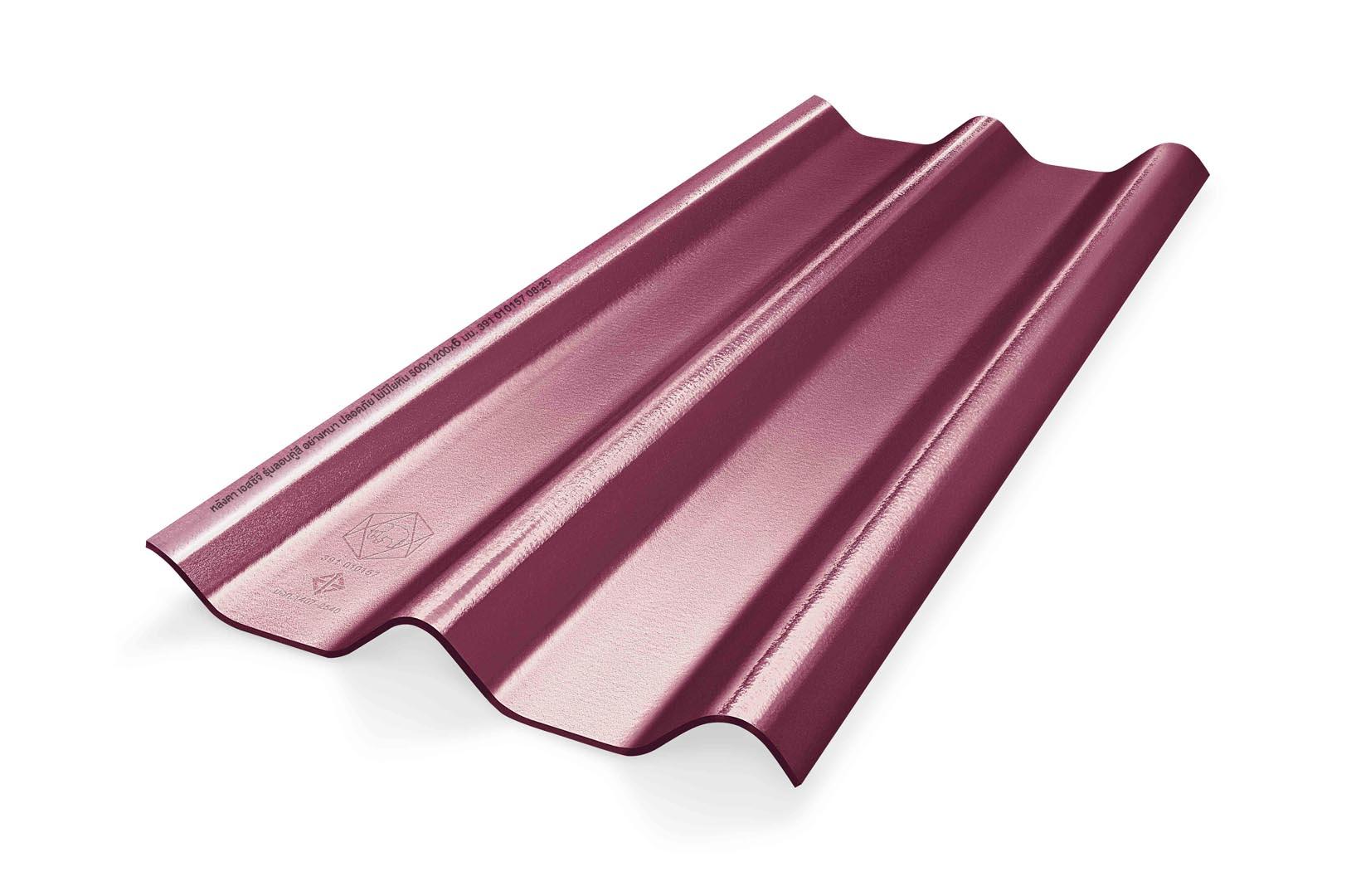 หลังคาไฟเบอร์ซีเมนต์ เอสซีจี รุ่น ลอนคู่ไฮบริด 50x150x0.55 สีม่วงประกายมุก 1