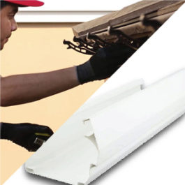 รางน้ำฝนไวนิล SCG รุ่น Smart สีขาว พร้อมติดตั้งเริ่มต้น 650 บาท/เมตร