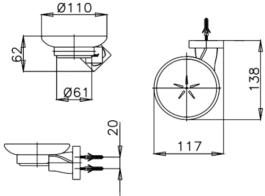 COTTO CT0066(HM) ที่วางสบู่ รุ่น TWIST 1