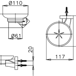 COTTO CT0066(HM) ที่วางสบู่ รุ่น TWIST