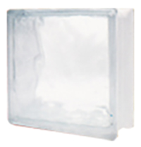 บล็อกแก้ว รุ่น N-003 พริ้วแก้ว Ice 3 นิ้ว