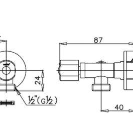COTTO CT1053(HM) วาล์วเปิด-ปิดน้ำเข้า 1 ออก 2