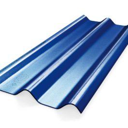 หลังคาไฟเบอร์ซีเมนต์ เอสซีจี รุ่น ลอนคู่ไฮบริด 50x150x0.55 สีน้ำเงินประกายมุก