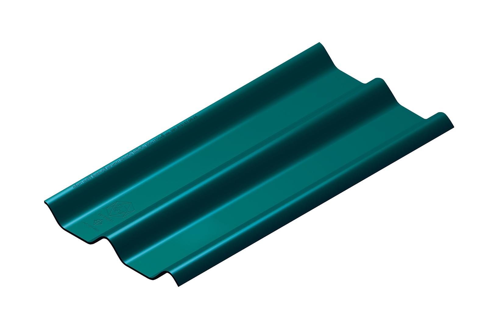 หลังคาไฟเบอร์ซีเมนต์ เอสซีจี รุ่น ลอนคู่ไฮบริด 50x150x0.55 สีเขียวสมุทร 1