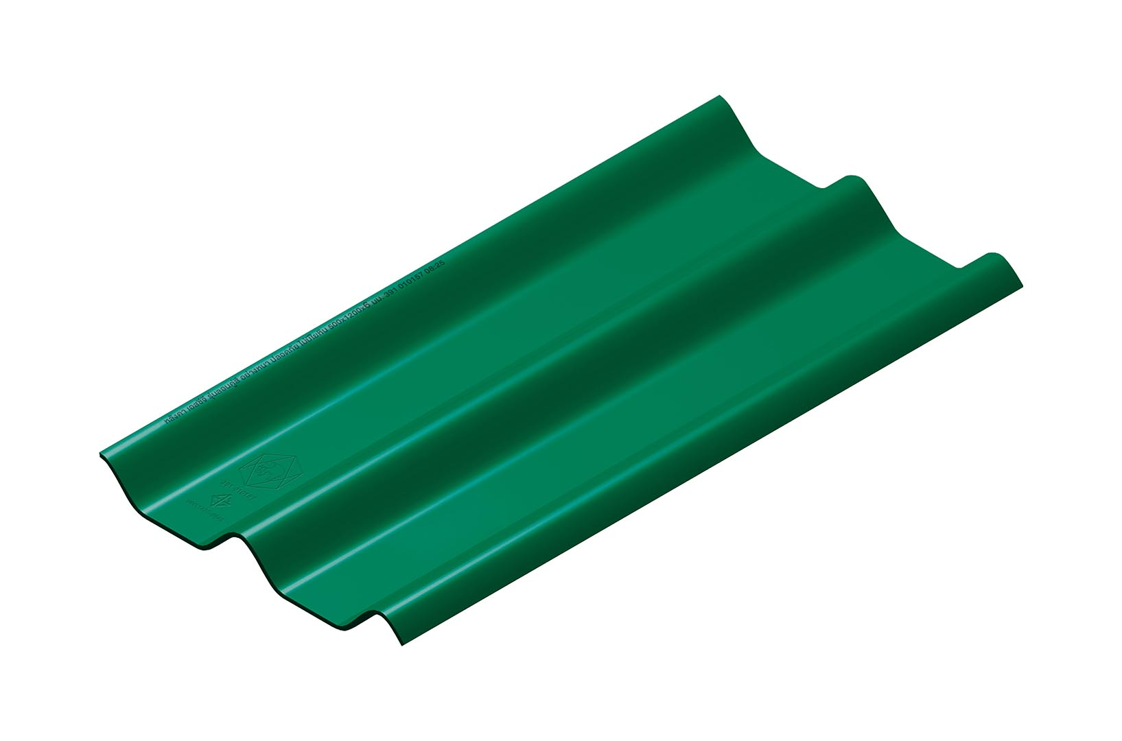 หลังคาไฟเบอร์ซีเมนต์ เอสซีจี รุ่น ลอนคู่ไฮบริด 50x150x0.55 สีเขียว