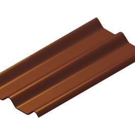 หลังคาไฟเบอร์ซีเมนต์ เอสซีจี รุ่น ลอนคู่ไฮบริด 50x150x0.55 สีเปลือกมังคุด