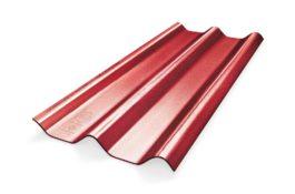 หลังคาไฟเบอร์ซีเมนต์ เอสซีจี รุ่น ลอนคู่ไฮบริด 50x150x0.55 สีแดงประกายมุก