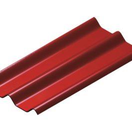 หลังคาไฟเบอร์ซีเมนต์ เอสซีจี รุ่น ลอนคู่ไฮบริด 50x150x0.55 สีแดง