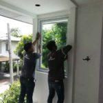 ต่อเติมห้องกระจก ต่อเติมระเบียงหน้าบ้าน ทาสีภายนอก 15