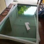 ต่อเติมห้องกระจก ต่อเติมระเบียงหน้าบ้าน ทาสีภายนอก 16