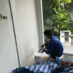 ต่อเติมห้องกระจก ต่อเติมระเบียงหน้าบ้าน ทาสีภายนอก 24