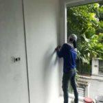 ต่อเติมห้องกระจก ต่อเติมระเบียงหน้าบ้าน ทาสีภายนอก 26