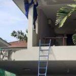 ต่อเติมห้องกระจก ต่อเติมระเบียงหน้าบ้าน ทาสีภายนอก 9