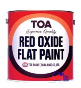สี TOA สีรองพื้นแดงกันสนิม Red Oxide Flat Paint