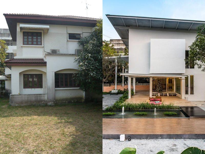 รีวิว รีโนเวทบ้าน 2 ชั้น ให้เป็นบ้านใหม่สไตล์โมเดิร์น 1