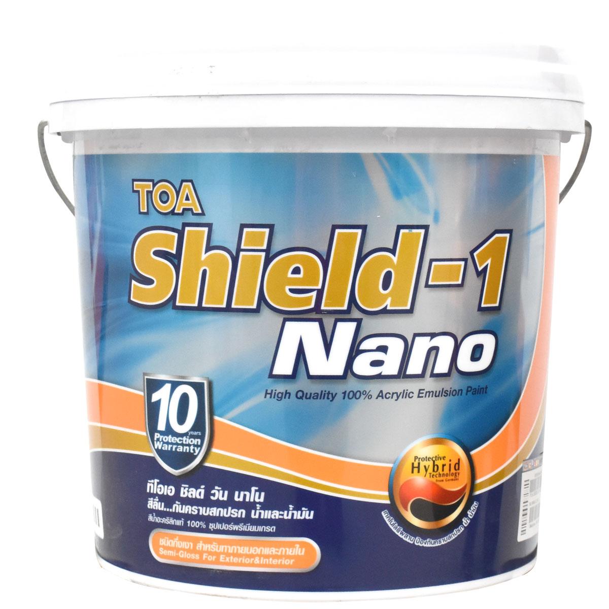 TOA Shield-1 Nano ชิลด์วัน นาโน สีน้ำ กึ่งเงา ทาภายนอก