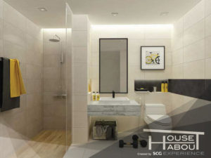 Read more about the article เลือกกระเบื้องพื้นผนังให้เหมาะกับห้องน้ำขนาดเล็ก