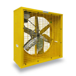 พัดลมระบายอากาศ 36 นิ้ว INDUSTRIAL FAN CTF-36G-1P series 220 V สีเหลือง