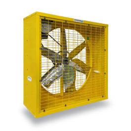 พัดลมระบายอากาศ 36 นิ้ว INDUSTRIAL FAN CTF-36G-3P series 380 V สีเหลือง