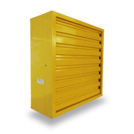 พัดลมระบายอากาศ 36 นิ้ว INDUSTRIAL FAN CTF-36S-3P series 380 V สีเหลือง