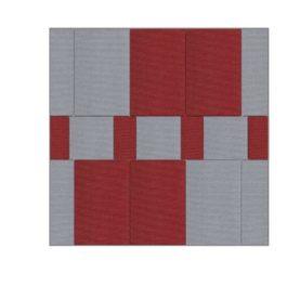วัสดุอะคูสติก เอสซีจี รุ่น Cylence ZANDERA SET สี เทา-แดง ขนาด 100x100x2.5 ซม.
