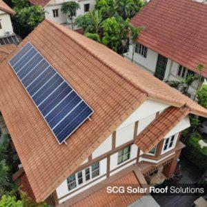 ระบบหลังคาโซลาร์ เอสซีจี Solar Roof