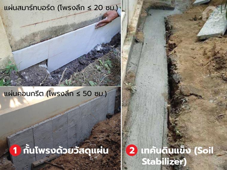 เปรียบเทียบ 2 บริการปิดโพรงใต้บ้าน FillGood กับ Landscape Smart Space Covering 3