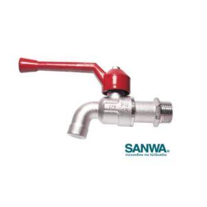 ก๊อกน้ำ บอลวาล์ว ด้ามแดง ซันวา SANWA ขนาด 1/2 นิ้ว