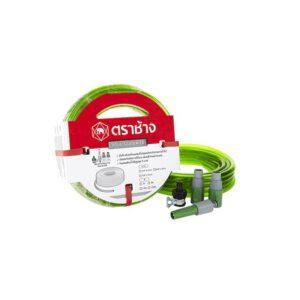 สายยางอ่อนพีวีซี-แฟนซี SCG สีเขียว ขนาด 5/8x10 ม.