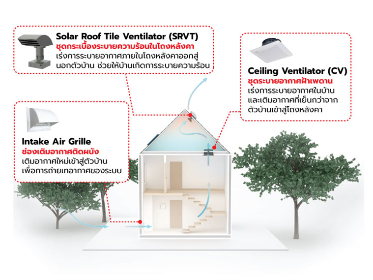 อยู่ทาวน์เฮาส์ ตึกแถว จะลดปัญหาบ้านร้อนได้อย่างไร 10