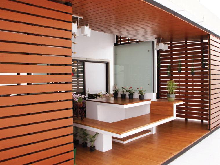 แต่งบ้านสวย…ด้วยระแนงไม้เทียมไฟเบอร์ซีเมนต์